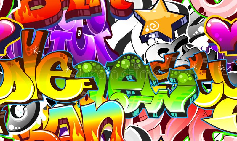 Graffiti-städtischer Kunst-Hintergrund lizenzfreie abbildung