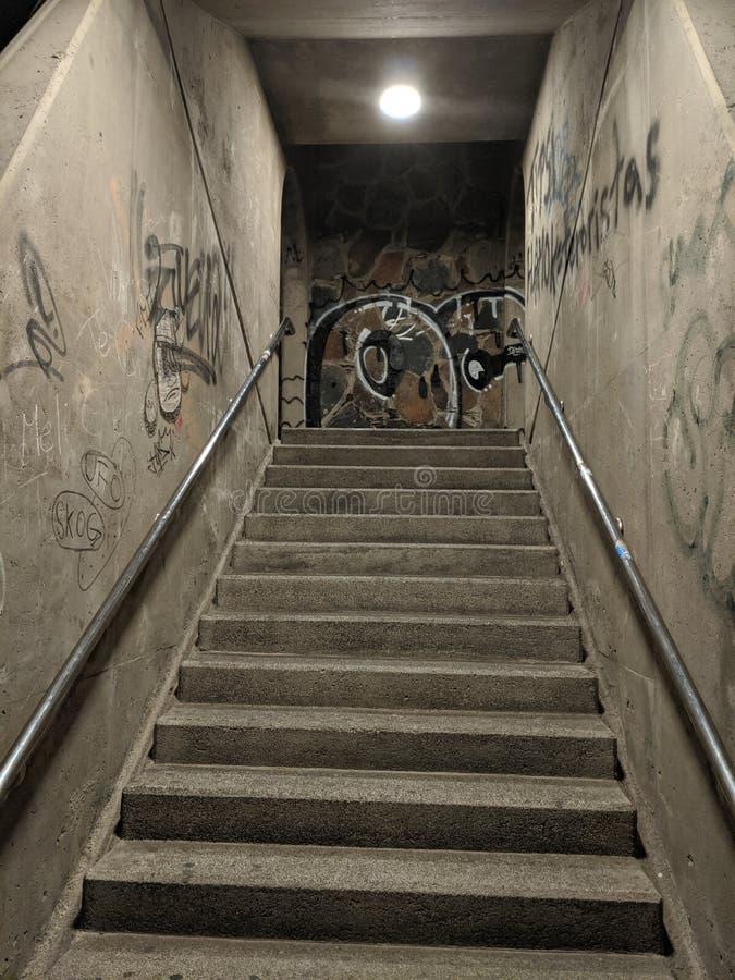 Graffiti Stairwell imagem de stock royalty free