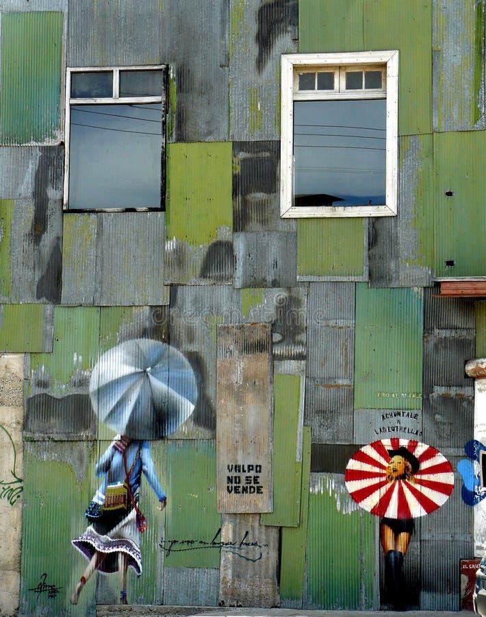 Free Graffiti- Stars And Umbrellas, Valparaiso Royalty Free Stock Photography - 13604197