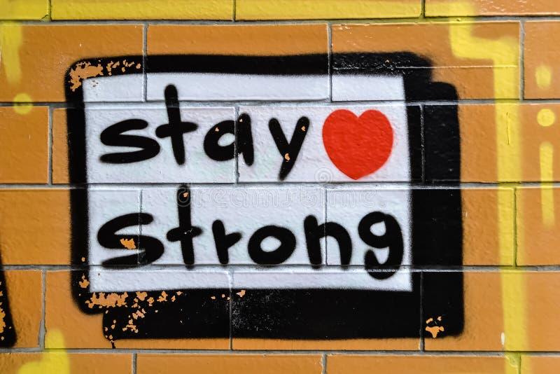 Graffiti StayStrong royalty-vrije stock fotografie