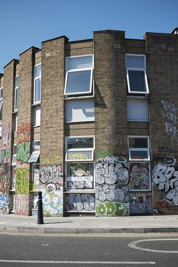 Graffiti in stoppino di Hackney fotografie stock