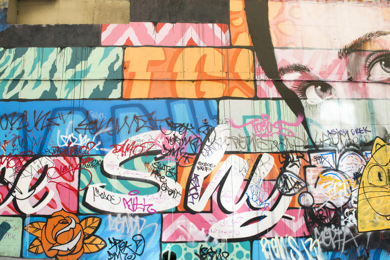 Graffiti in Melbourne, Australia royalty free stock image