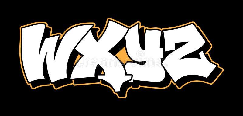 Graffiti style lettering text design stock illustration