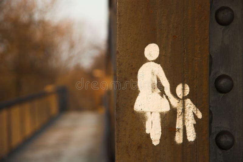 Graffiti su una trave fotografie stock