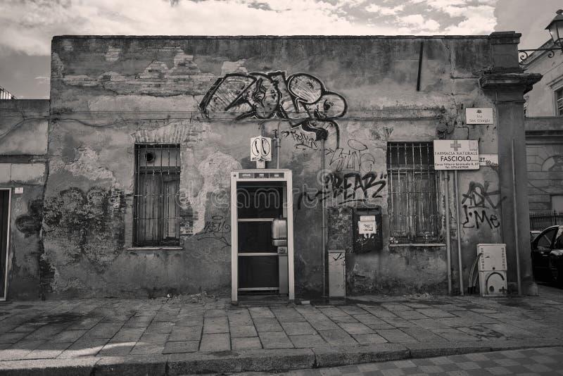 Graffiti suburbs wall stock image