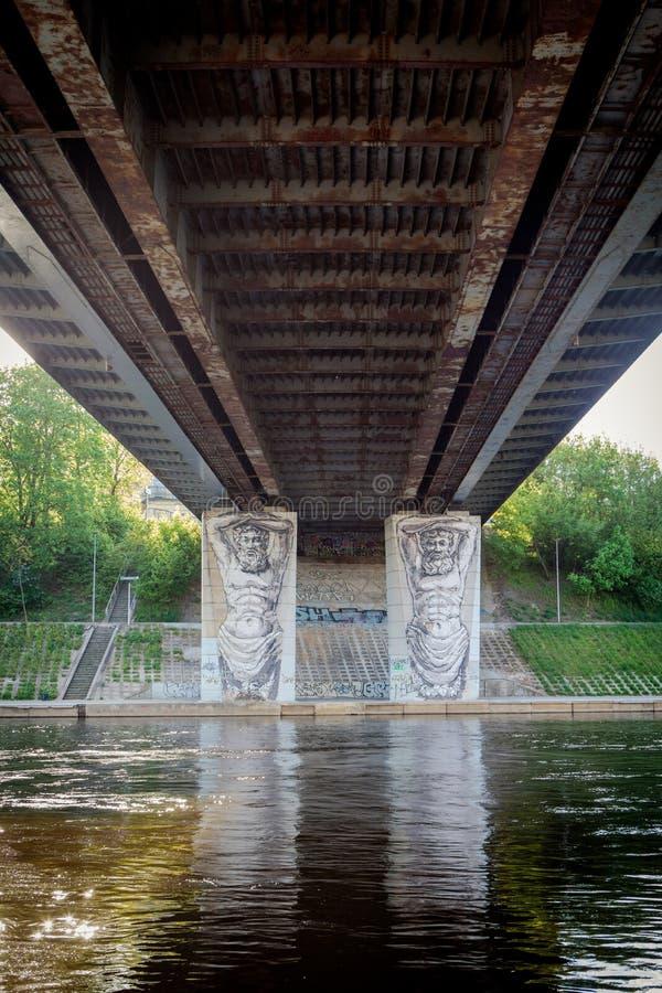 Graffiti sul ponte di Liubartas immagine stock