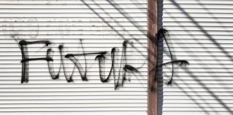 Graffiti sulla parete, struttura dipinta con spruzzo fotografia stock