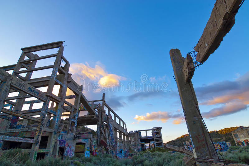 Graffiti Sunrise Royalty Free Stock Photo