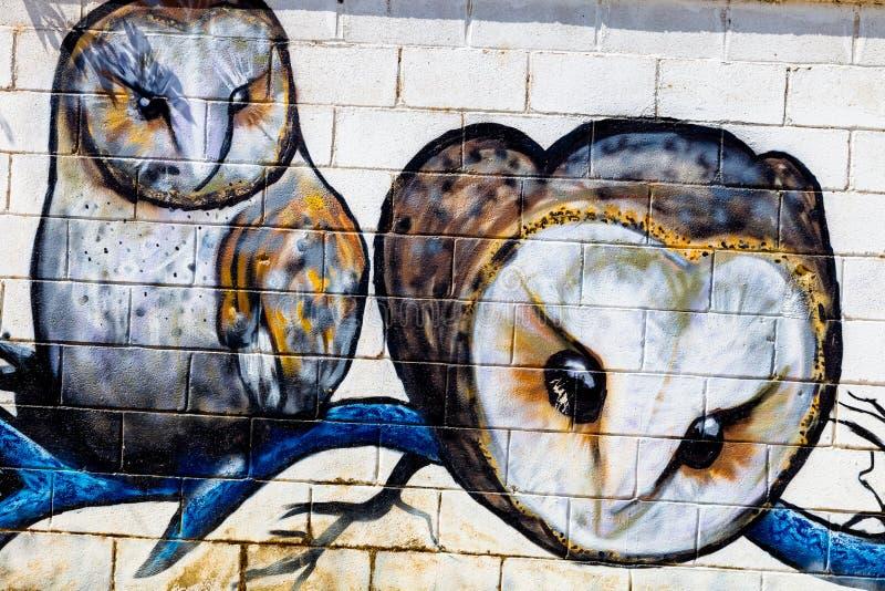 Graffiti sur une concurrence sur Puerto vrai, Espagne photographie stock