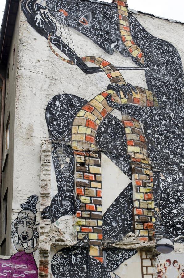 Graffiti sztuka obraz royalty free