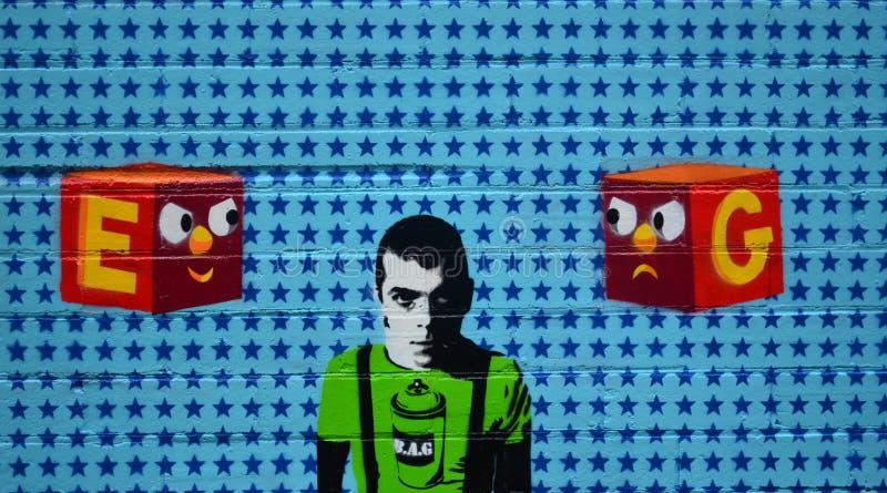 Graffiti sztuka na ścianie obrazy royalty free