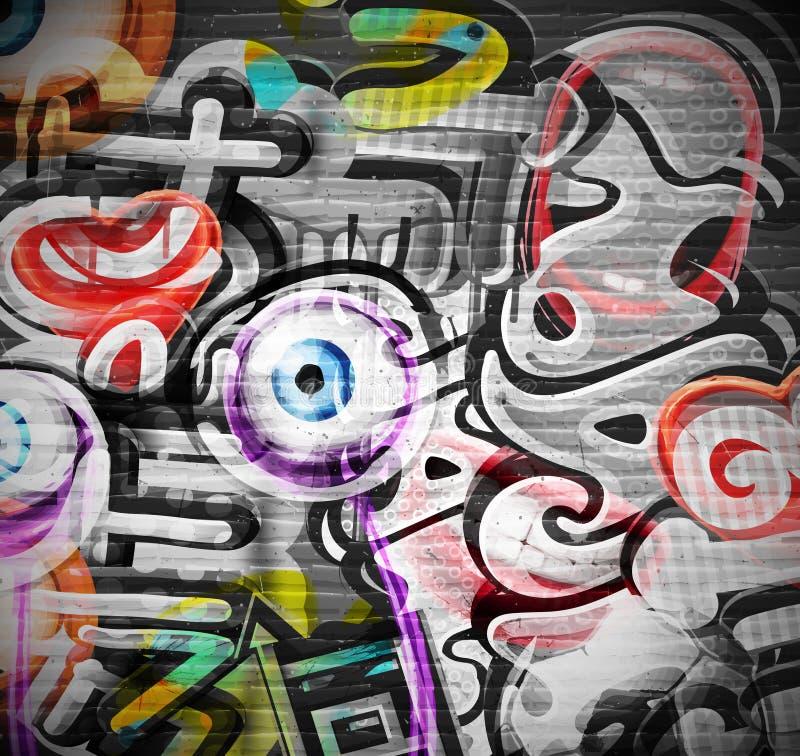Graffiti tło ilustracji