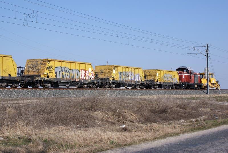 Graffiti train stock photography