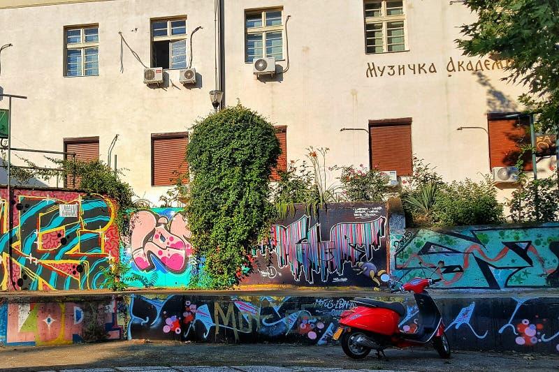 Graffiti ulica zdjęcia royalty free