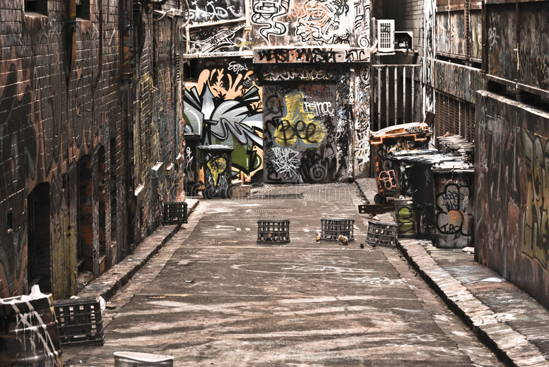 Graffiti urbain photo stock