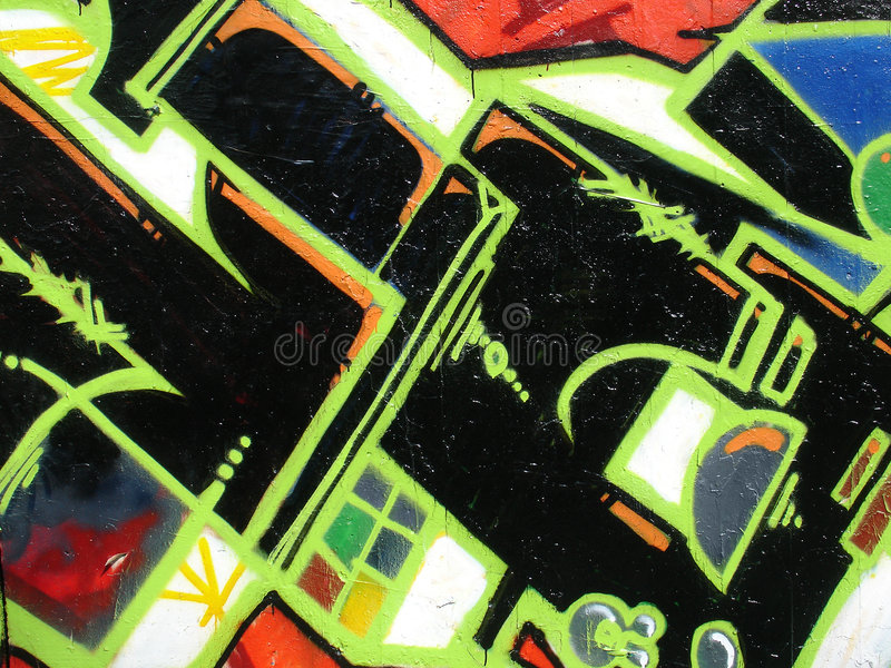 Graffiti urbani immagine stock