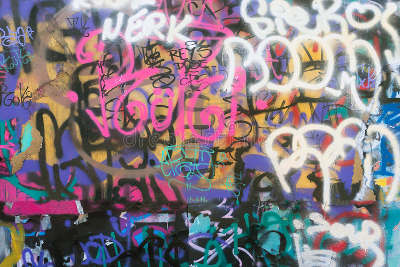 Graffiti urbani immagini stock