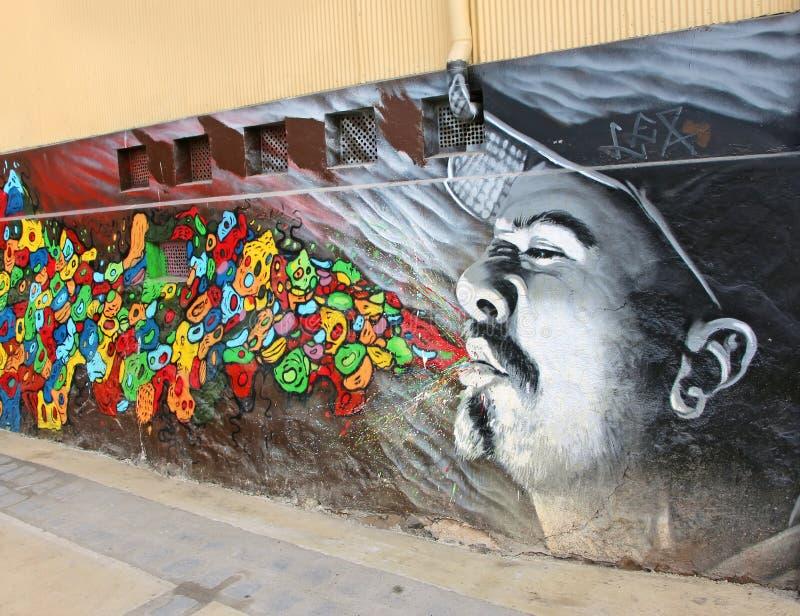 Graffiti in Valparaiso immagine stock