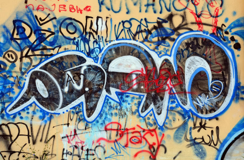 Graffiti van de stad stock afbeelding