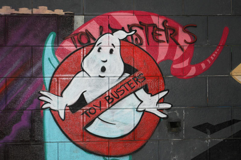 Graffiti van het spook royalty-vrije stock afbeelding