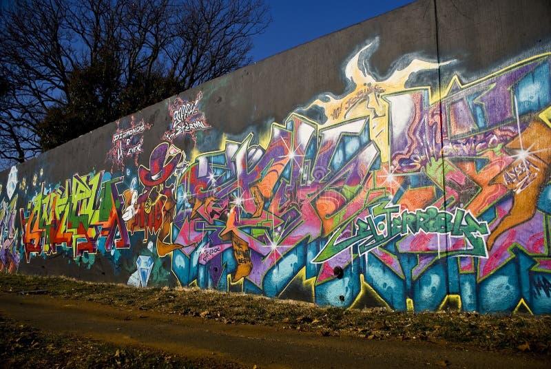 Graffiti venerdì - arte urbana - parete dei graffiti immagini stock libere da diritti