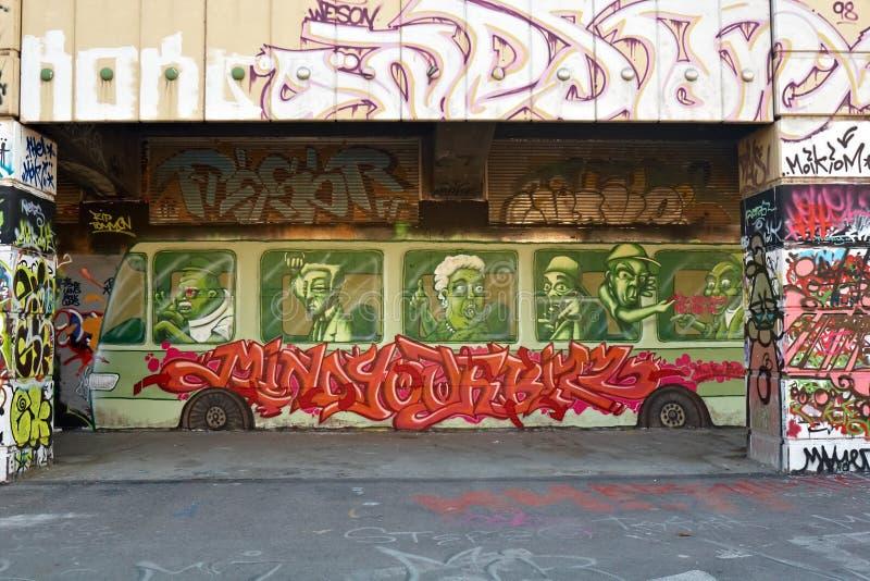 Graffiti in Vienna royalty free stock photo