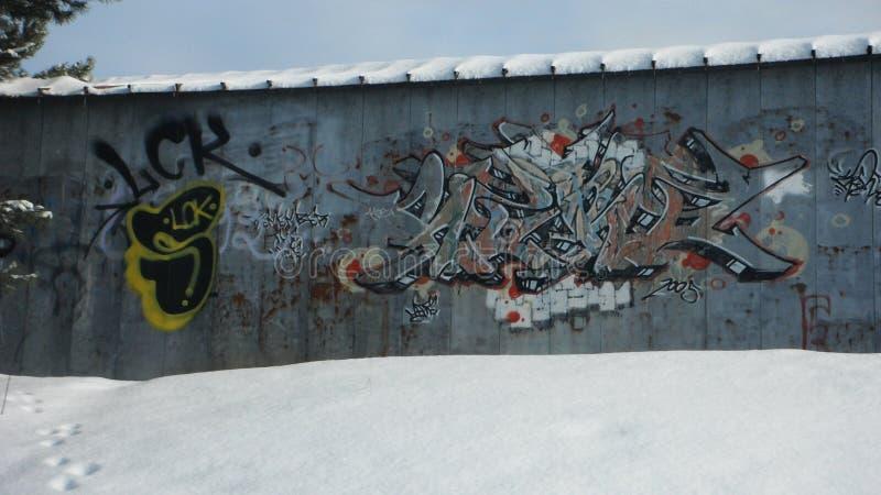 Graffiti von Nord-Ontario lizenzfreie stockfotos