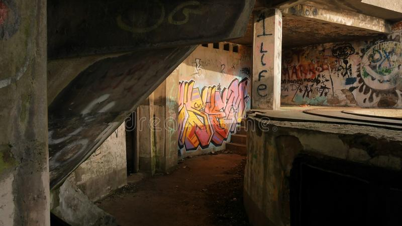 Graffiti w świetle słonecznym obrazy royalty free
