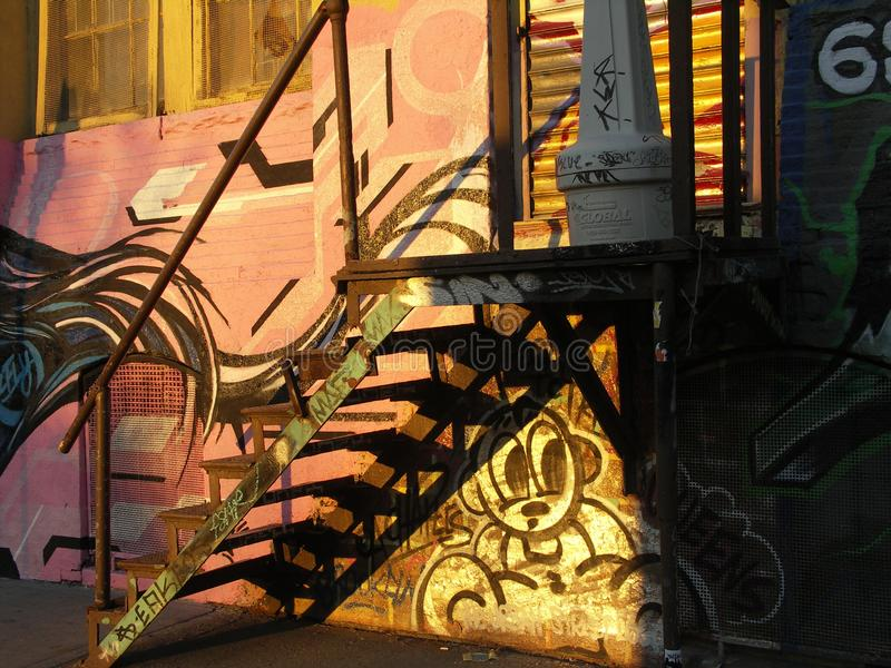 Graffiti w Brooklyn zdjęcia royalty free