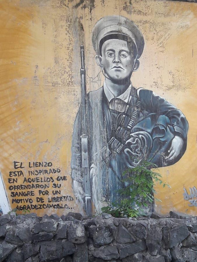 Graffiti w Lima co do strat w wojnie obraz royalty free