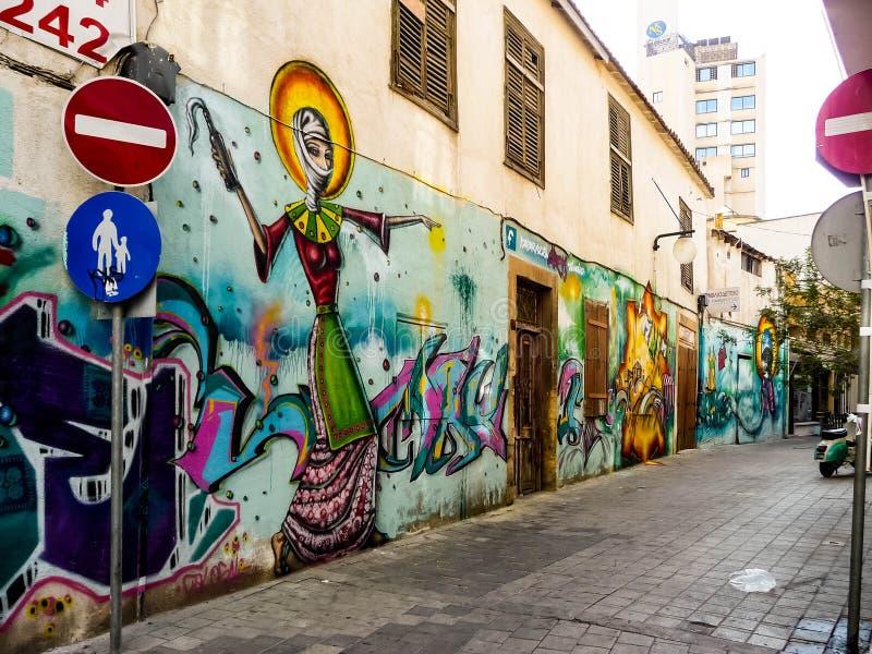 Graffiti w Nikozja zdjęcie royalty free
