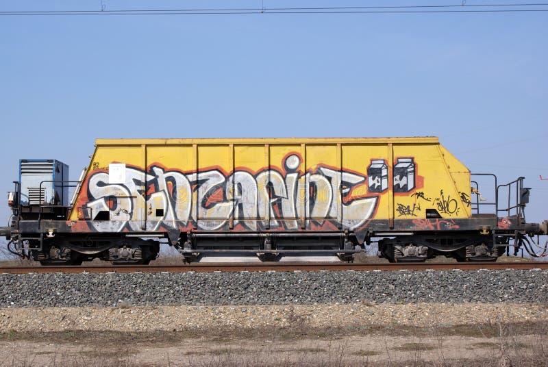 Graffiti wagon stock photo