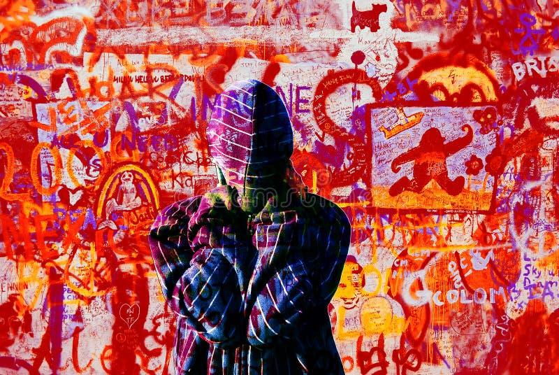 Download Graffiti wall stock image. Image of drawings, saturated - 13140977