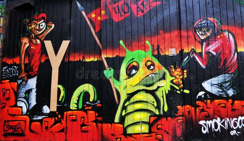 Graffiti wall royalty free illustration