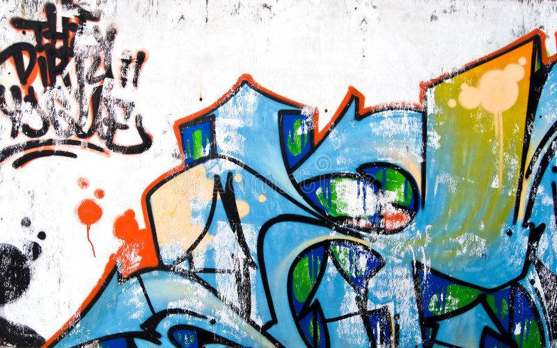 Graffiti on wall. Graffiti on an old ragged wall royalty free stock photos