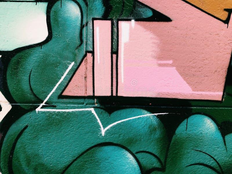 Graffiti wall background. Urban street art. Design royalty free stock images
