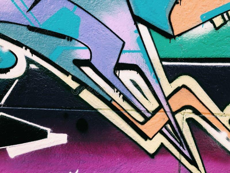 Graffiti wall background. Urban street art. Design stock images