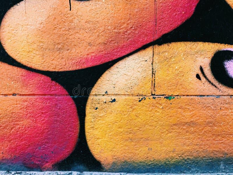 Graffiti wall background. Urban street art. Design stock image