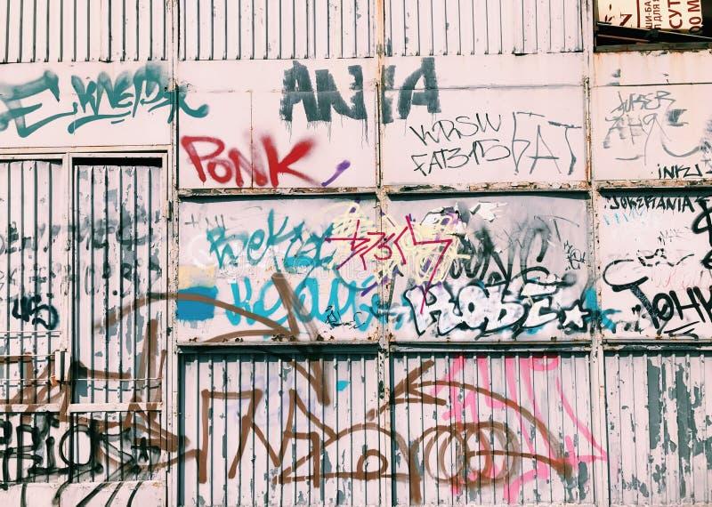 Graffiti wall background. Urban street art. Design stock photos