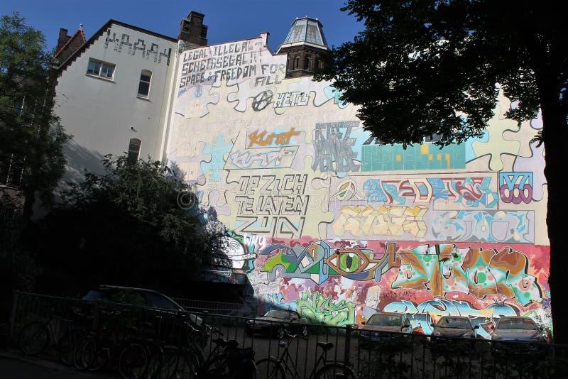 Graffiti Wall in Liège, Belgium royalty free stock images