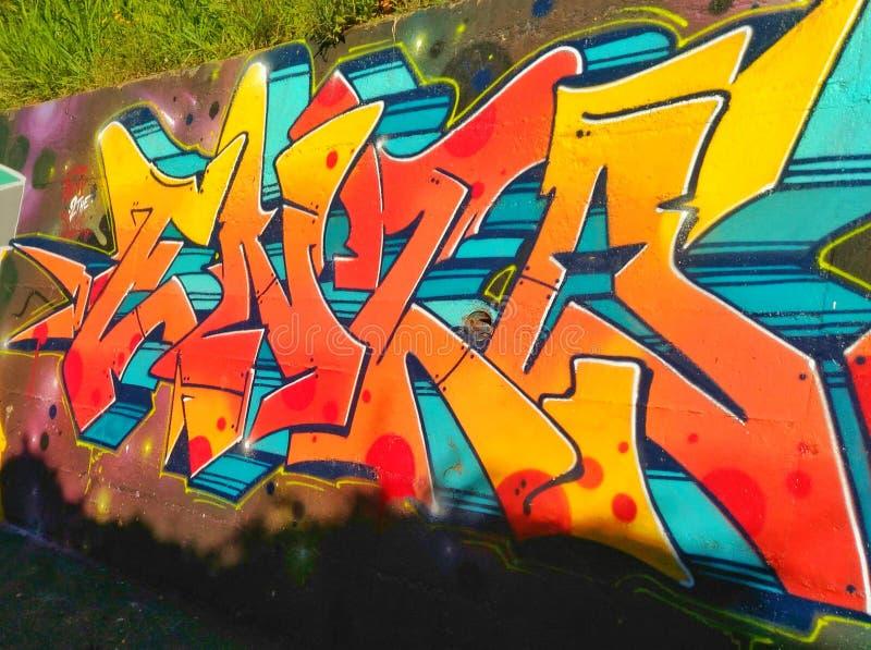 Graffiti Wall in Naples stock photo