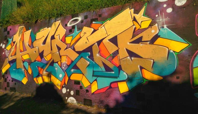 Graffiti Wall in Naples royalty free stock photo