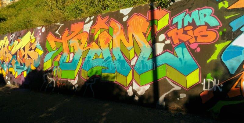 Graffiti Wall in Naples royalty free stock image