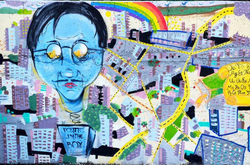 Graffiti-Wand Rousse stock abbildung