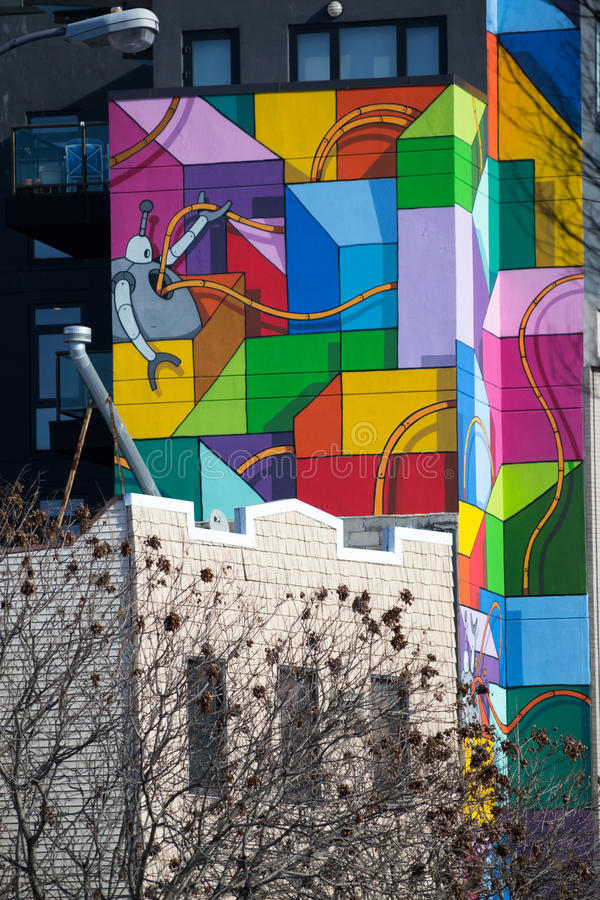Graffiti in Williamsburg lizenzfreie stockfotos
