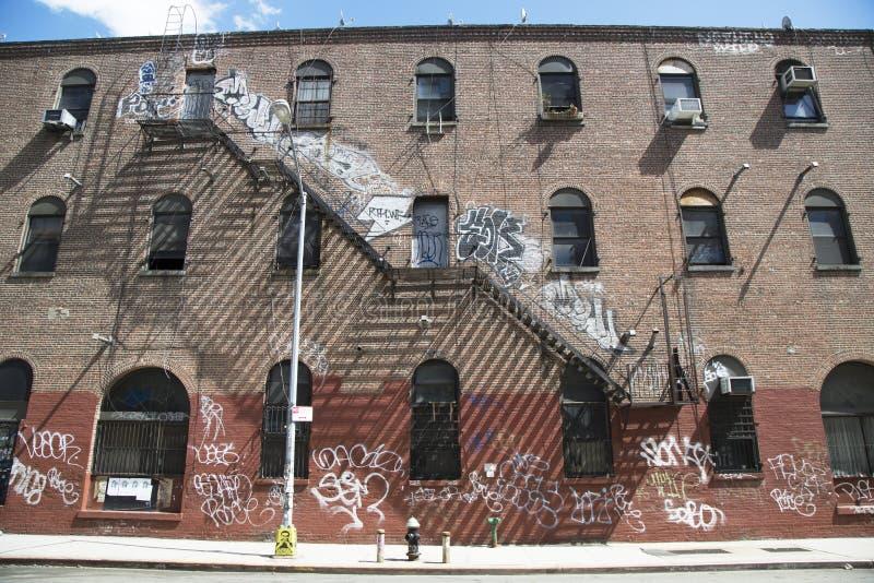 Graffiti in Williamsburg-Abschnitt in Brooklyn stockbild