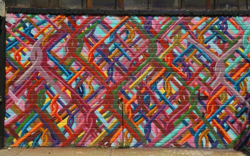 Graffiti in Williamsburg-sectie in Brooklyn stock afbeeldingen