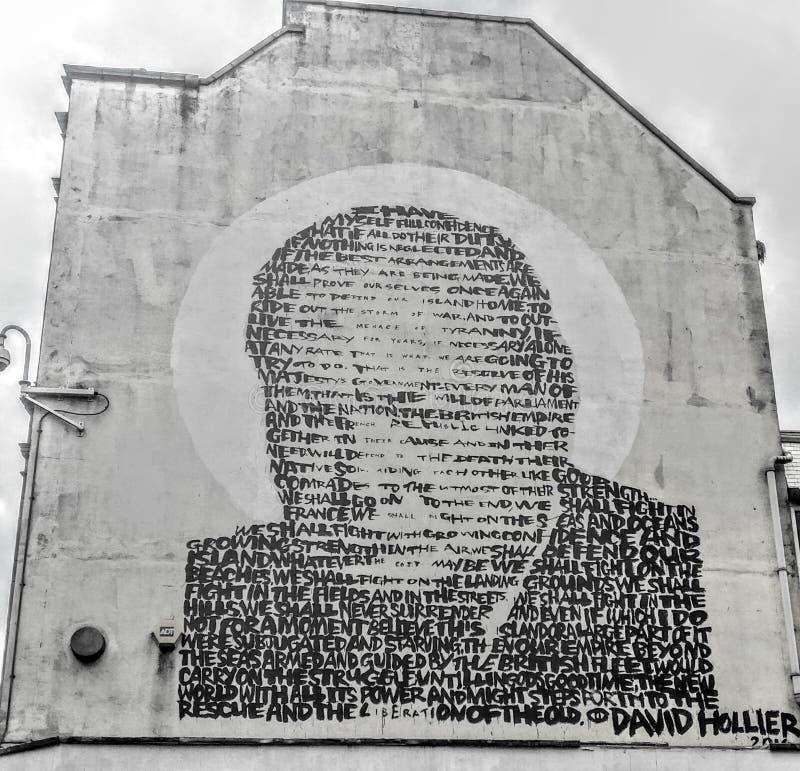 Graffiti Winston Churchill zdjęcia royalty free