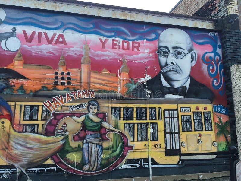 Graffiti, Ybor-Stad, Tamper, Florida royalty-vrije stock afbeeldingen