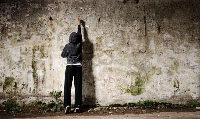 Graffiti youth royalty free stock image